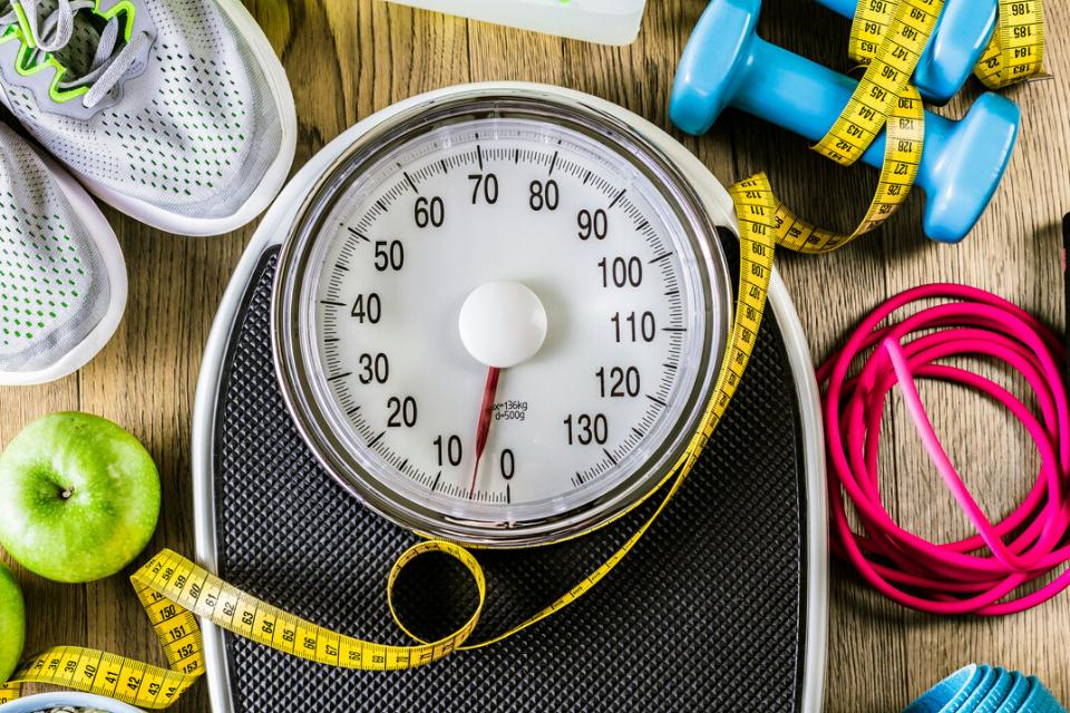 à mi-chemin de lobjectif de perte de poids