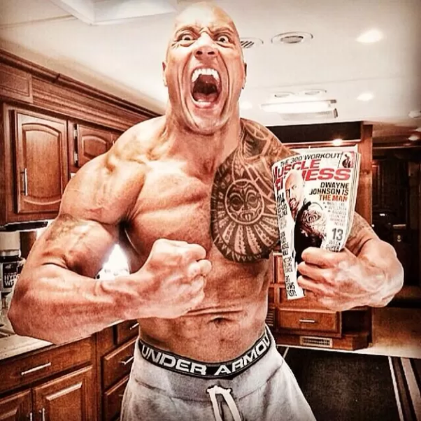 dwayne the rock johnson perte de poids