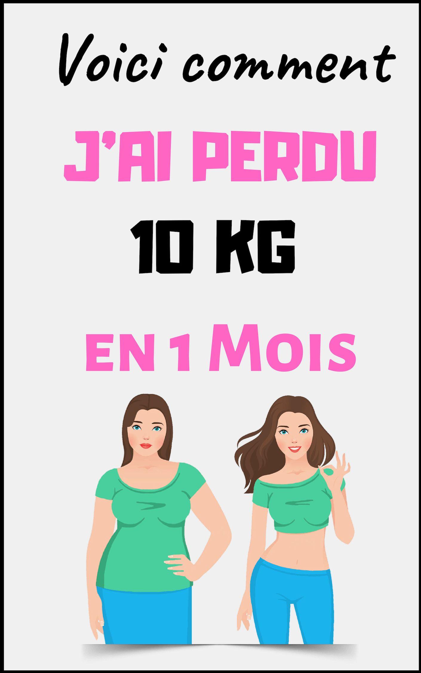 Combien de kilos peut-on perdre en 1 mois ?