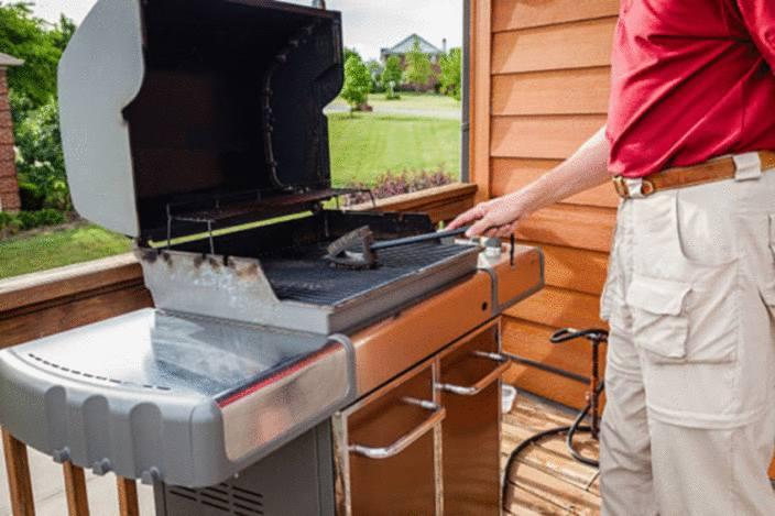 enlever les taches de graisse du patio charge 2 zone de combustion des graisses