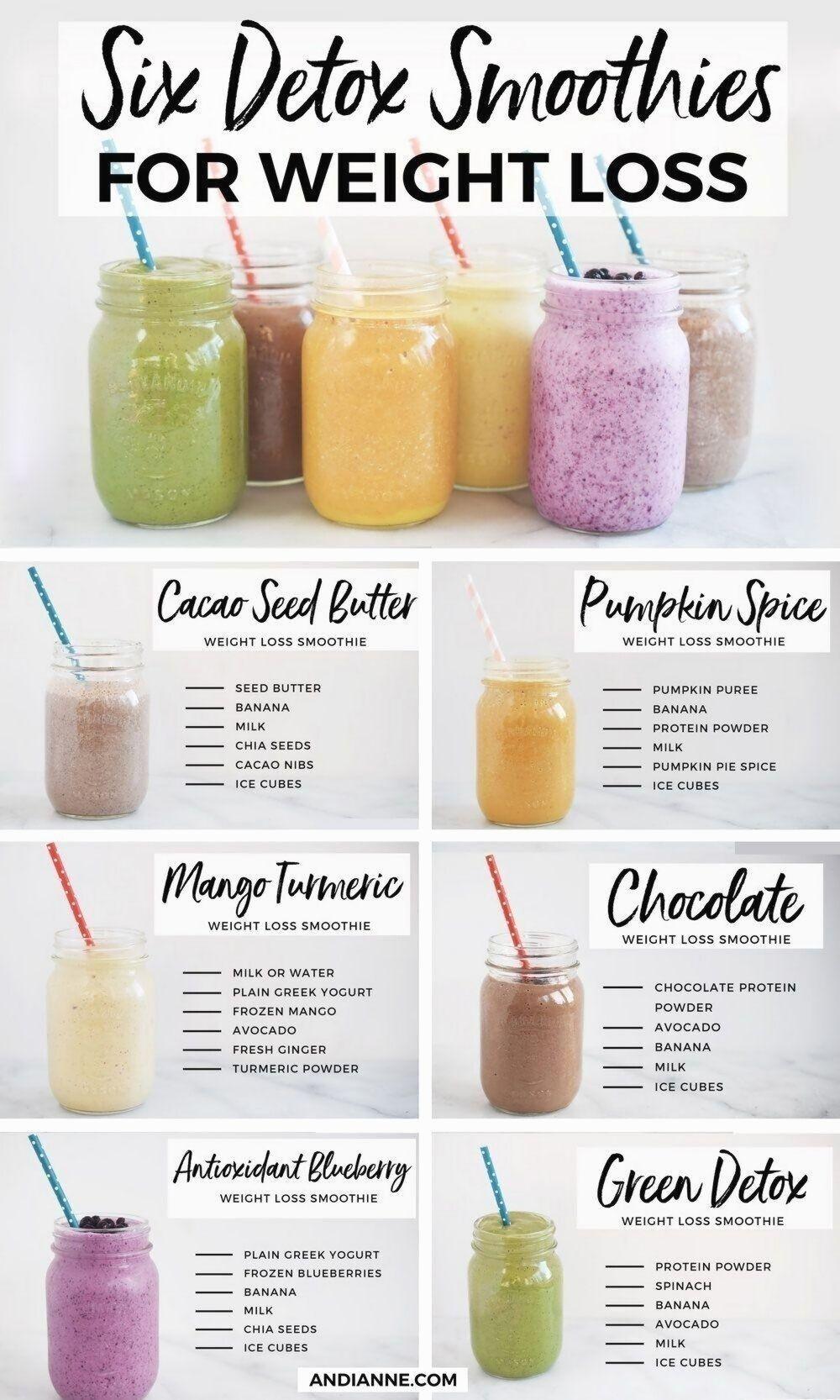 repas de smoothie de perte de poids