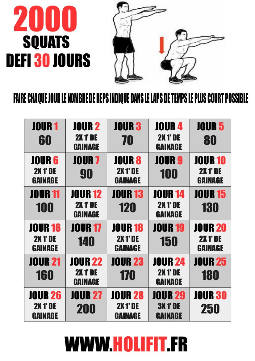 idées de Défi Squat | exercices de fitness, exercice sport, exercice