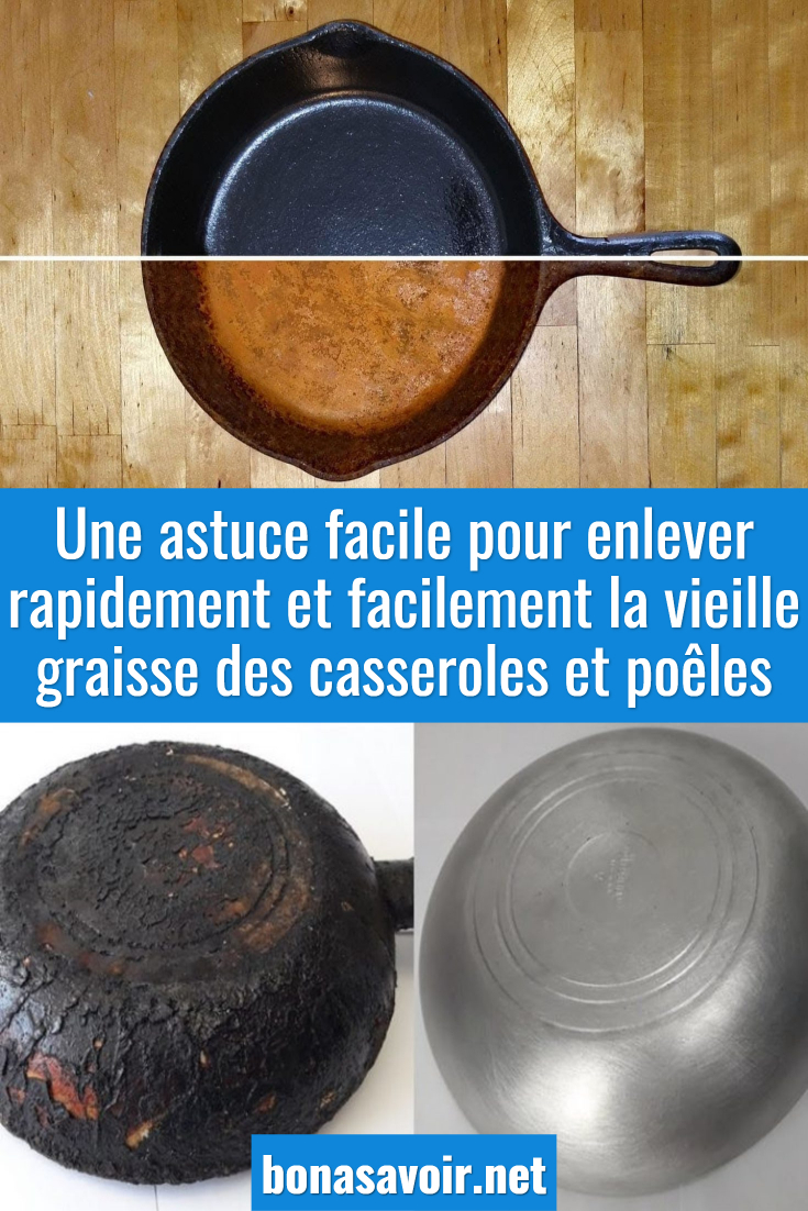 Comment nettoyer le dos brûlé d'une poêle ou casserole ? 4 astuces