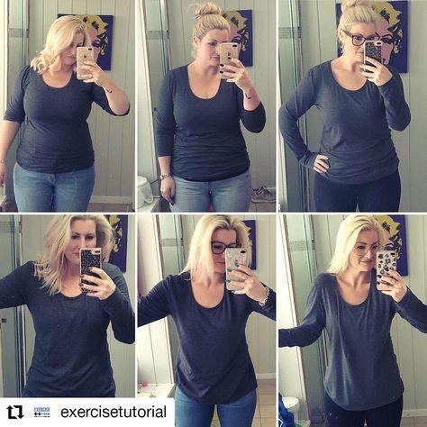 Transformation de perte de poids de 60 lb chemises de perte de poids pour femmes
