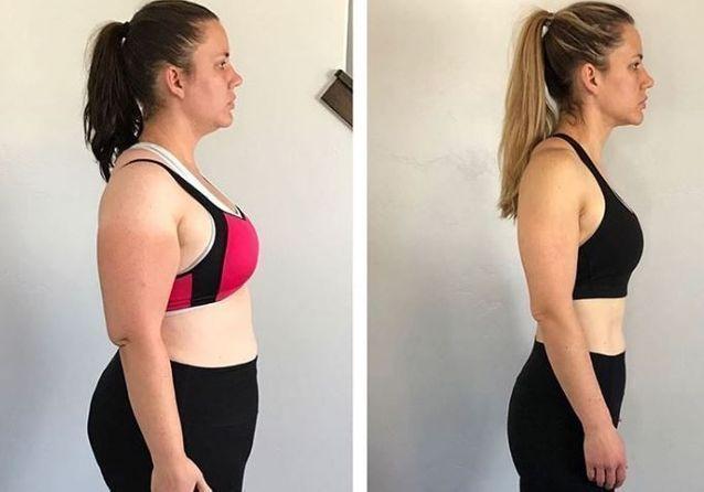 un mois de perte de poids avant et après