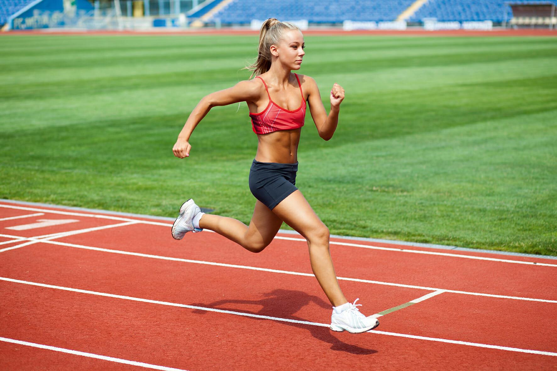 séance de sprint pour brûler les graisses