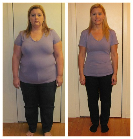 Défi de perte de poids de 60 jours avant et après