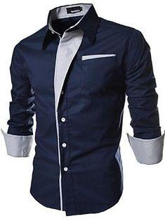 chemise amincissante color block