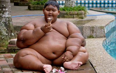 gros garçon veut perdre du poids