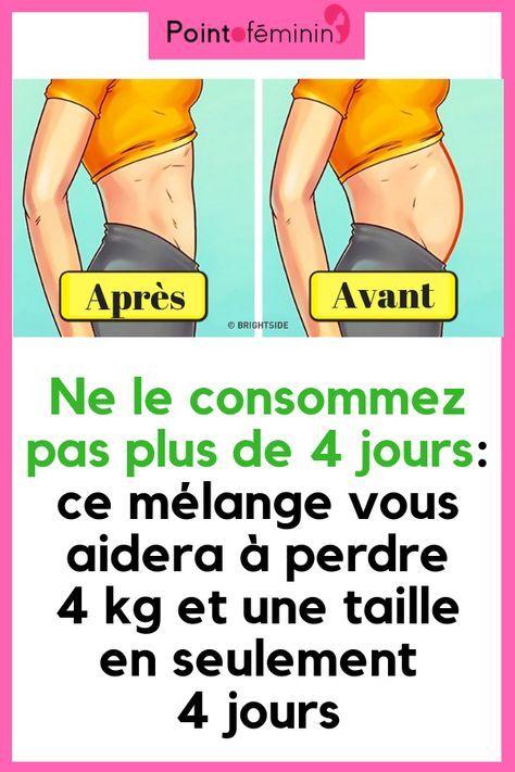 perdre la graisse du ventre 4 jours