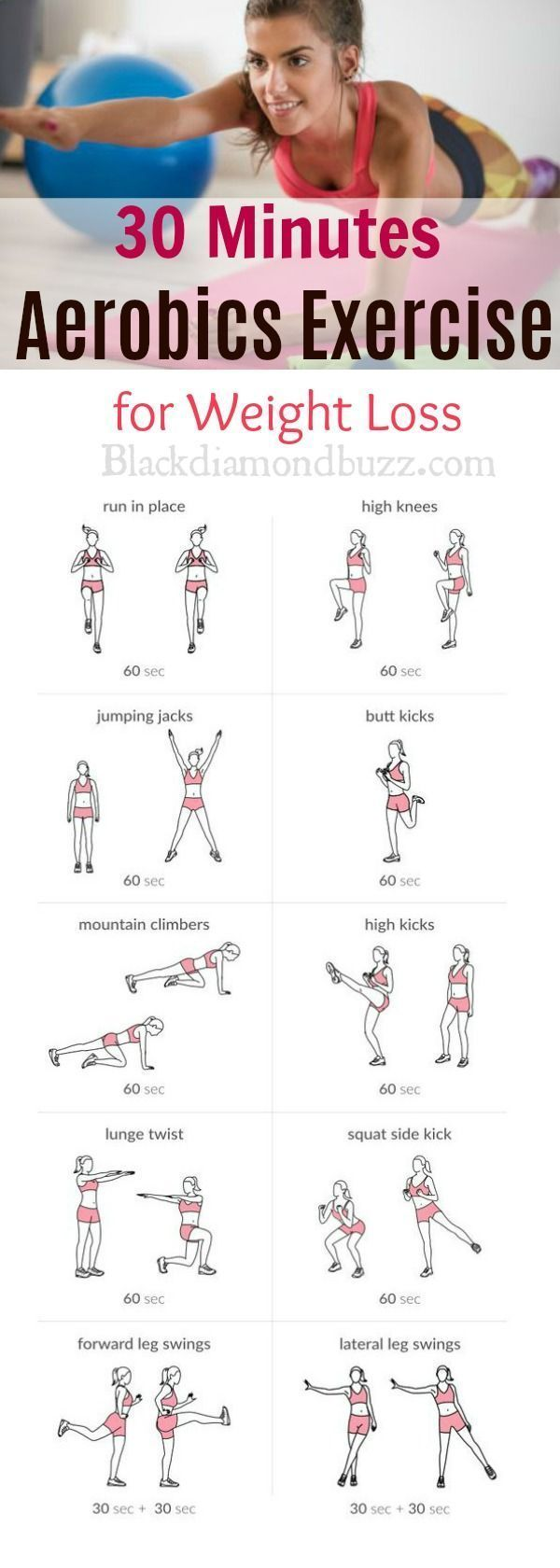 6 exercices de perte de poids + programme d'entraînement gratuit