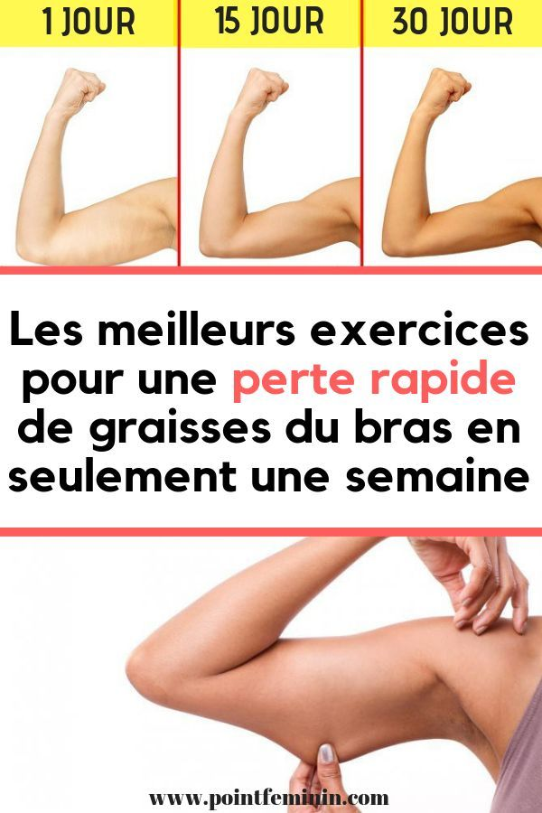 meilleure façon de perdre la graisse du bas du bras
