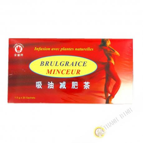Thé noir amincissant Brule Graisse 20x1,5gg Chine