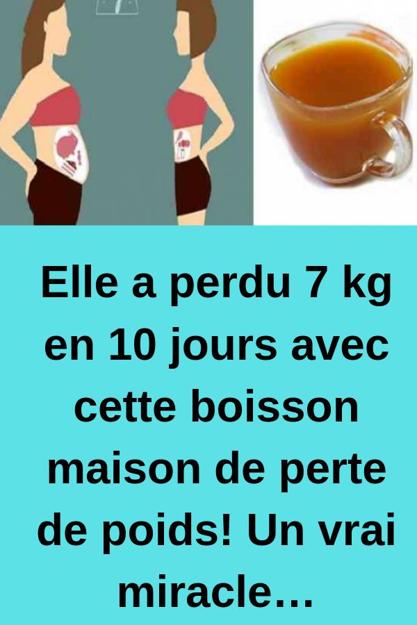 boissons pour la perte de poids du ventre