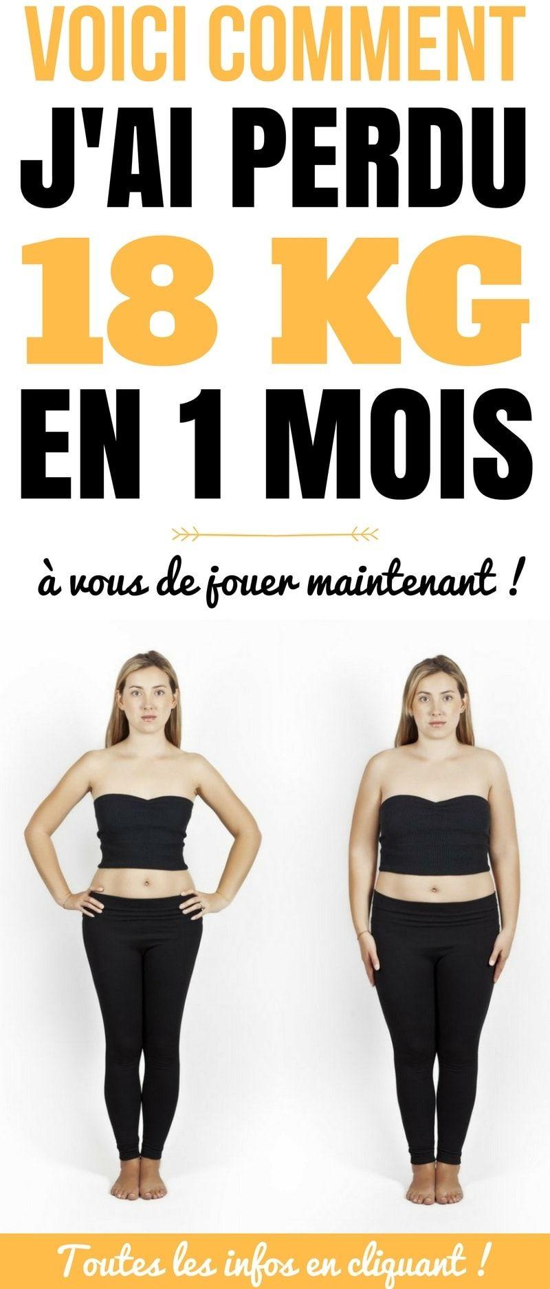 comment perdre du poids en 1 mois
