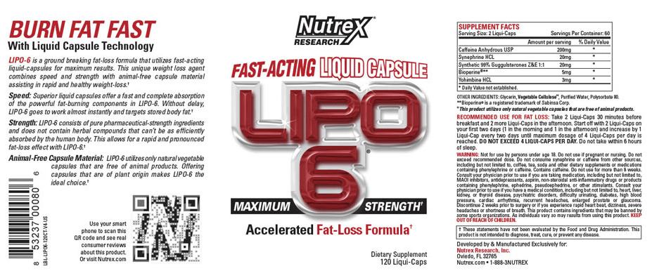 effets secondaires du brûleur de graisse lipo 6