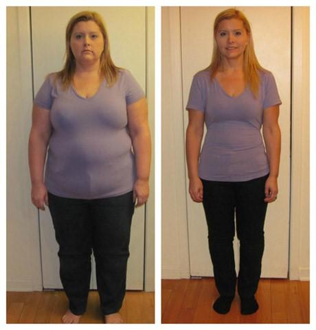 perte de poids 100 lbs avant après