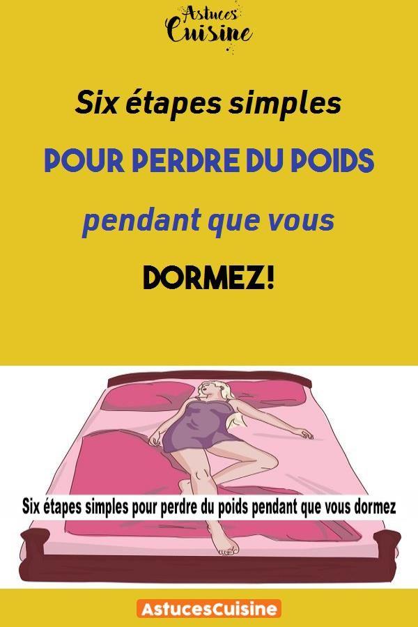 minceur pendant que vous dormez