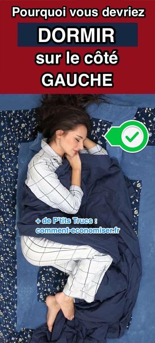 dormir sur la perte de poids du côté gauche