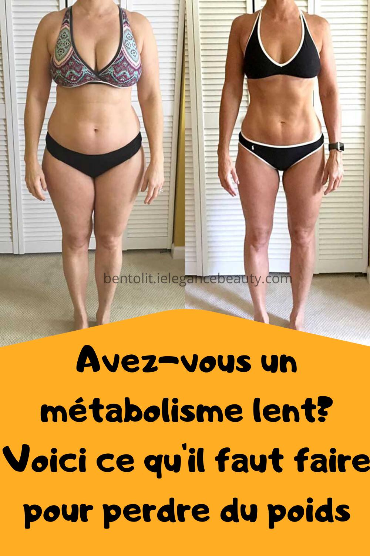 perdre du métabolisme de poids