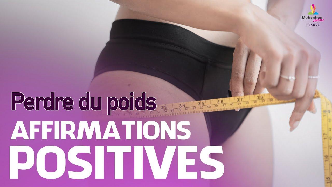 affirmations quotidiennes de perte de poids