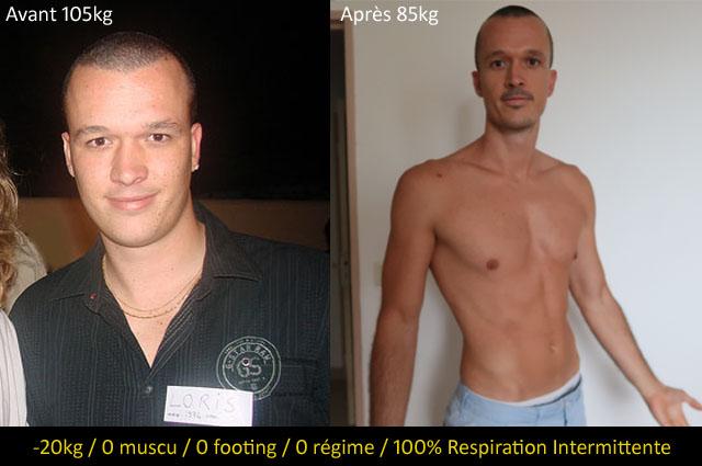 perte de poids naturellement avant et après