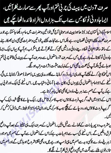 conseils urdu perte de poids
